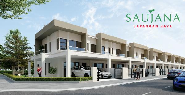 Saujana Lapangan Jaya屋业发展计划,共建277间单层及双层排屋单位,以应付市场需求。