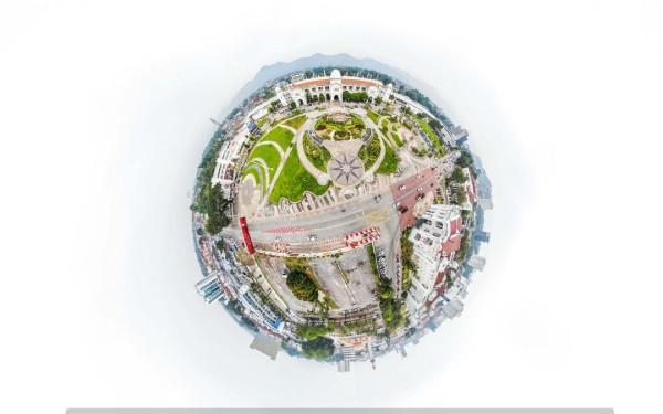 """市民可以通过""""虚拟导览"""",看看怡保火车站的面貌。(受访者提供)"""