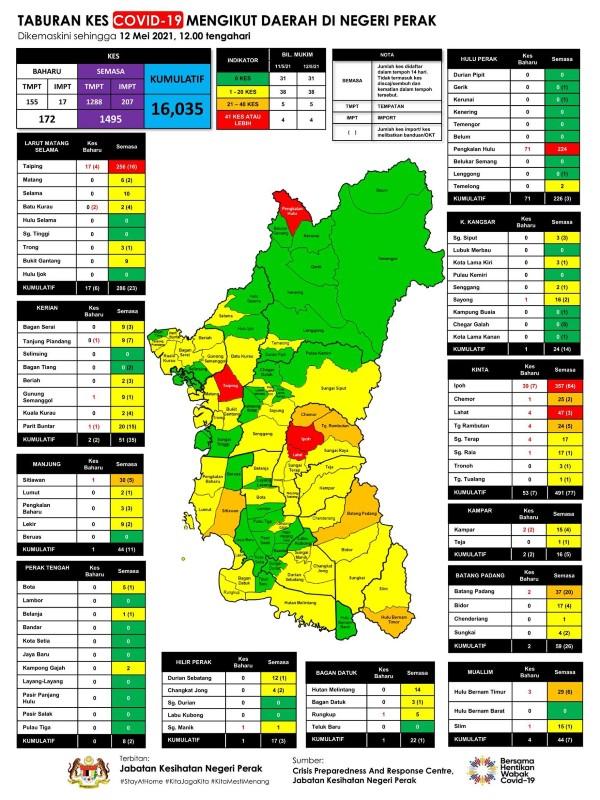 霹州疫情分布图。