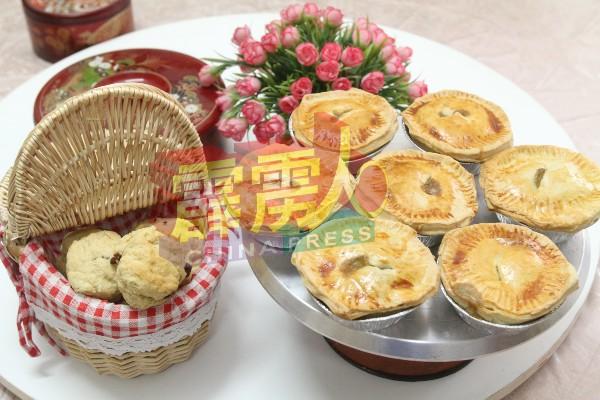 菲比安烘焙出更具英式风味的司康饼和鸡肉派。