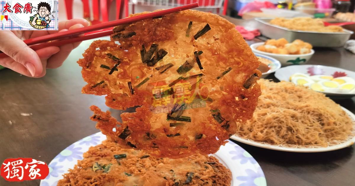 陈慧清独家秘制的菜饼咸香适宜。