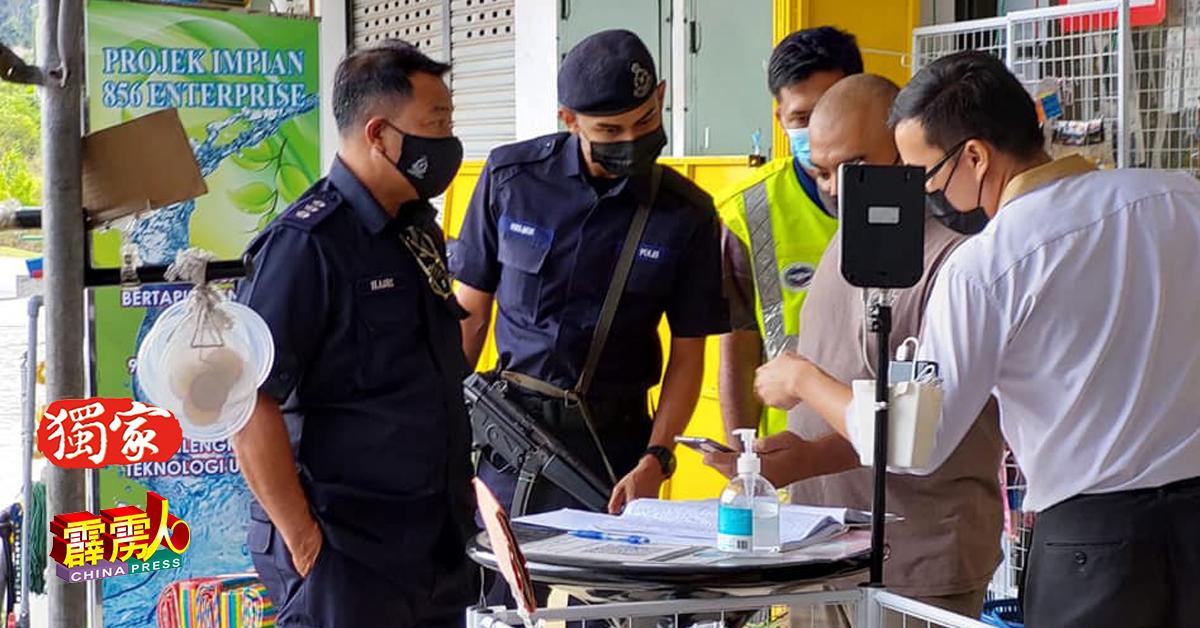 虽然江沙没有民众或商家,因违返防疫指南而接到罚单,但警方并没因此放鬆防疫监督。